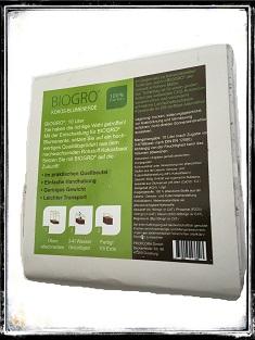 biogro kokos blumenerde im quellbeutel 10 l. Black Bedroom Furniture Sets. Home Design Ideas